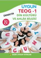Uygun TEOG 1- Din Kültürü ve Ahlak Bilgisi Kitabı