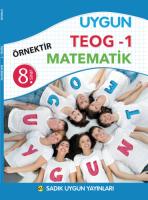 Uygun TEOG 1-  Matematik Kitabı 8. Sınıf