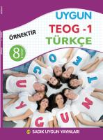 Uygun TEOG 1 – Türkçe Kitabı 8. Sınıf
