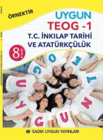 Uygun TEOG 1 – İnkılap Tarihi ve Atatürkçülük Kitabı 8. Sınıf