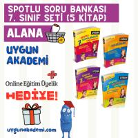 Uygun – Spotlu Soru Bankası – 7. Sınıf Seti (4 Kitap) Alana – Kavram Haritası + Online Eğitim Üyelik Hediye!