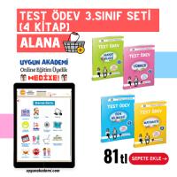 UYGUN – Test Ödev – 3. Sınıf Seti (4 Kitap) Alana Online Eğitim Üyelik Hediye!