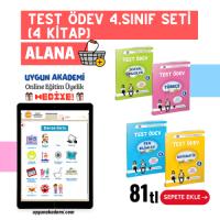 UYGUN – Test Ödev – 4. Sınıf Seti (4 Kitap) Alana Online Eğitim Üyelik Hediye!