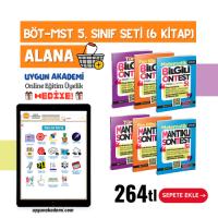 Uygun – BÖT-MST 5. Sınıf Seti (6 Kitap) Alana + Online Eğitim Üyelik Hediye!