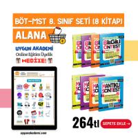 Uygun – BÖT-MST 8. Sınıf Seti (8 Kitap) Alana + Online Eğitim Üyelik Hediye!