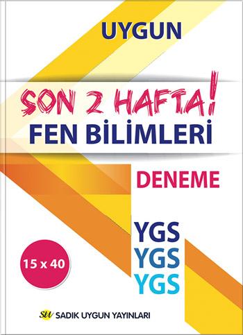 Uygun – YGS Deneme Fen Bilimleri Kitabı – SON 2 HAFTA