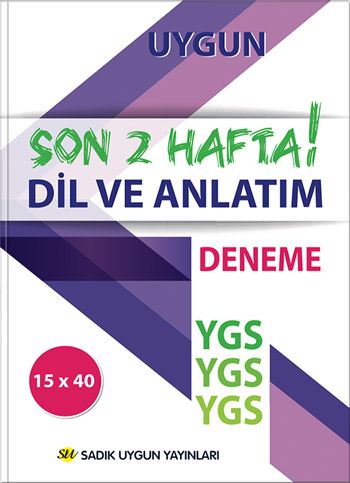 Uygun – YGS Deneme Dil ve Anlatım Kitabı – SON 2 HAFTA