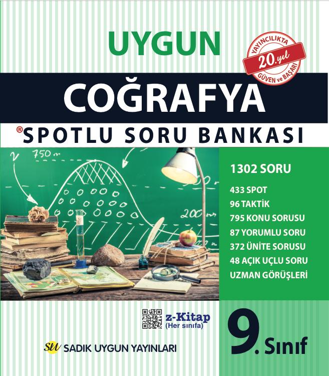 Uygun – Coğrafya Spotlu Soru Bankası Kitabı – 9. Sınıf