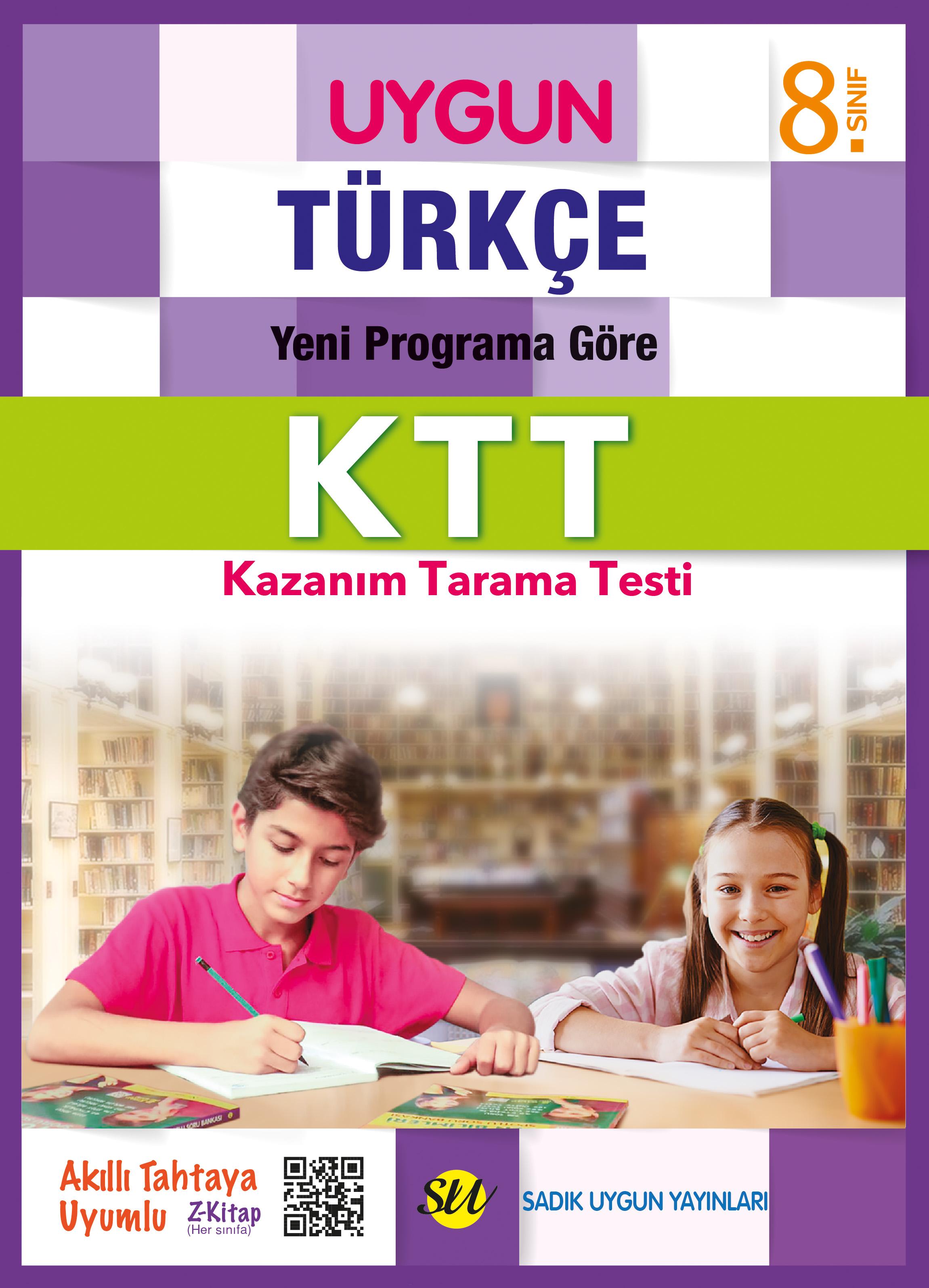 UYGUN – Kazanım Tarama Testleri (KTT) – Türkçe 8. Sınıf