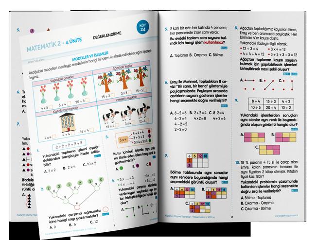 2. Sınıf Kazanım Ölçme Yaprakları (KÖY) Matematik - Sadık Uygun Yayınları
