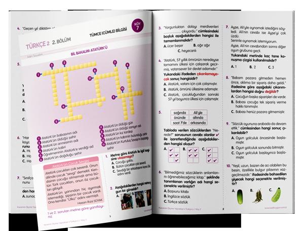 2. Sınıf Kazanım Ölçme Yaprakları (KÖY) Türkçe - Sadık Uygun Yayınları