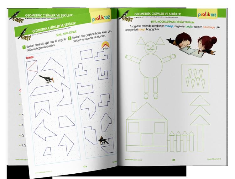 Sadık Uygun Yayınları - 2. Sınıf Uygun Matematik Kitabı - Uzaktan Eğitim