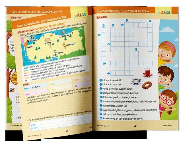 2. Sınıf İlkokul Türkçe Dersi - Sadık Uygun Yayınları - Uzaktan Eğitim