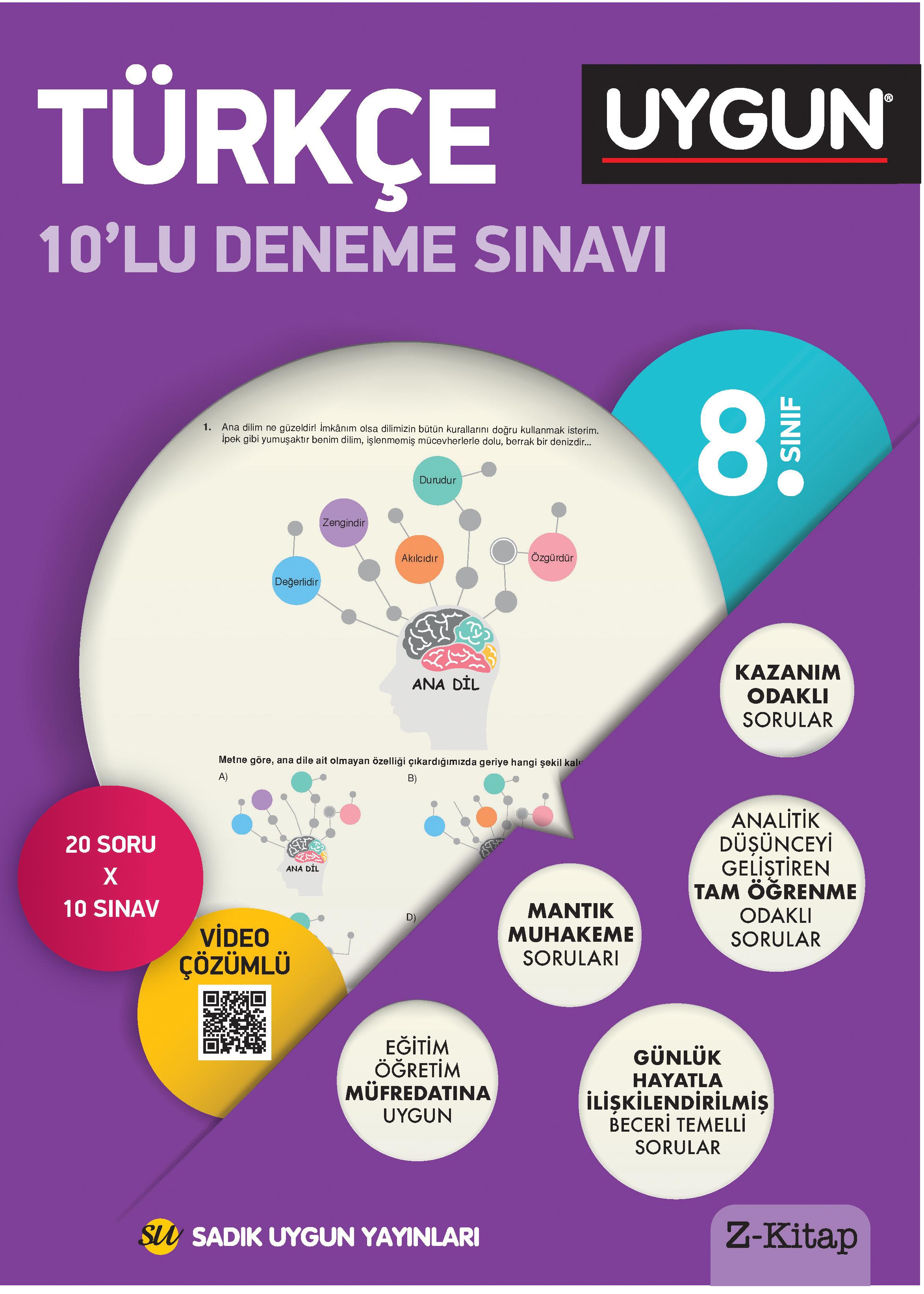UYGUN – 10'lu Deneme Sınavı – Türkçe 8. Sınıf