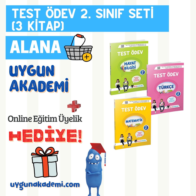 UYGUN – Test Ödev Kitapları (Türkçe – Matematik – Hayat Bilgisi) – 2. Sınıf