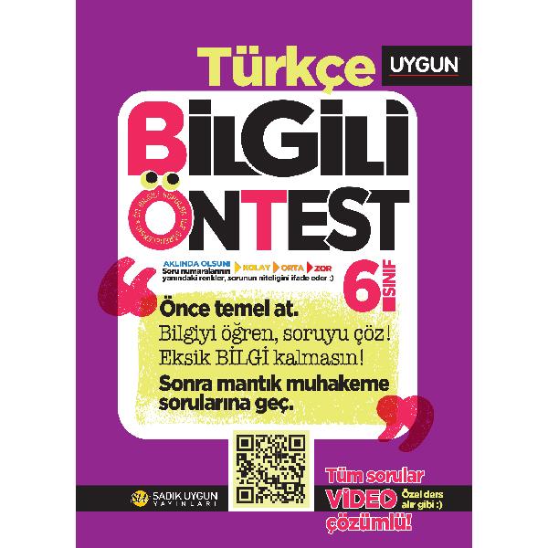 UYGUN – Bilgili Ön Test – Türkçe 6. Sınıf