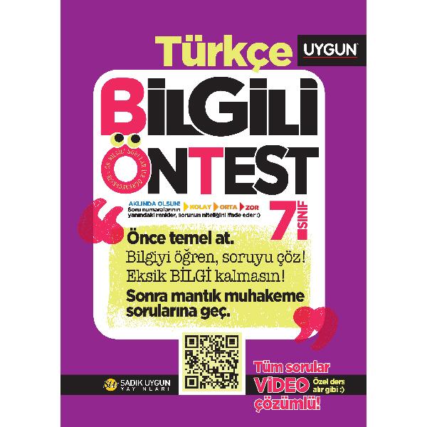 UYGUN – Bilgili Ön Test – Türkçe 7. Sınıf
