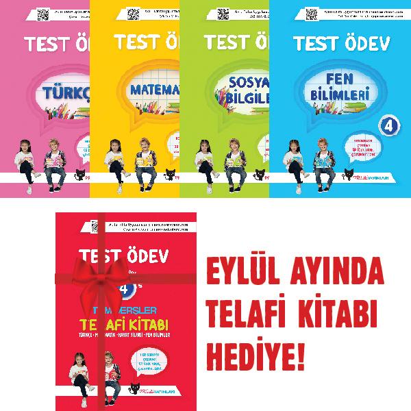 UYGUN – Test Ödev Kitapları (Türkçe- Matematik- Fen Bilimleri – Hayat Bilgisi) -4. Sınıf